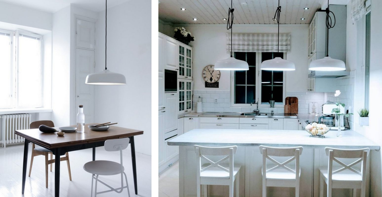Lampy antydepresyjne Candeo Air - aranżacje w jadalni i kuchni