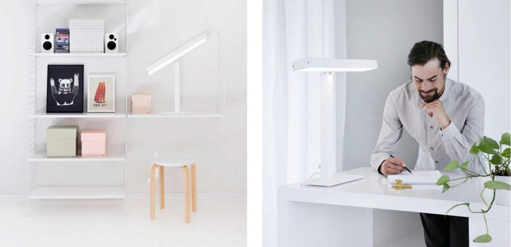 Innolux Valovoima LED Biurkowa - lampa antydepresyjna zaprojektowana do pracy biurowej